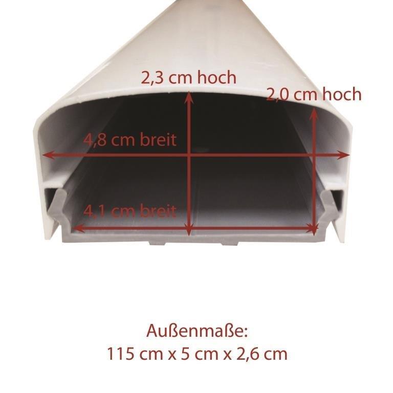 kabelkanal aluminium tv hifi 115x5 cm rund eckig schwarz wei silber ebay. Black Bedroom Furniture Sets. Home Design Ideas